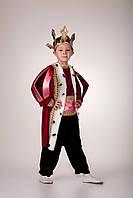 Детский карнавальный костюм для мальчика «Король красный» 110-120 см, красный