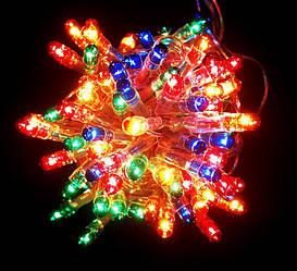 Гирлянда Нить электрическая 400 lamp, мульти, чёрный провод, 11,5м.