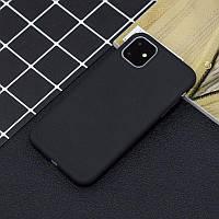 Чехол Soft Touch для Apple Iphone 11 силикон бампер черный