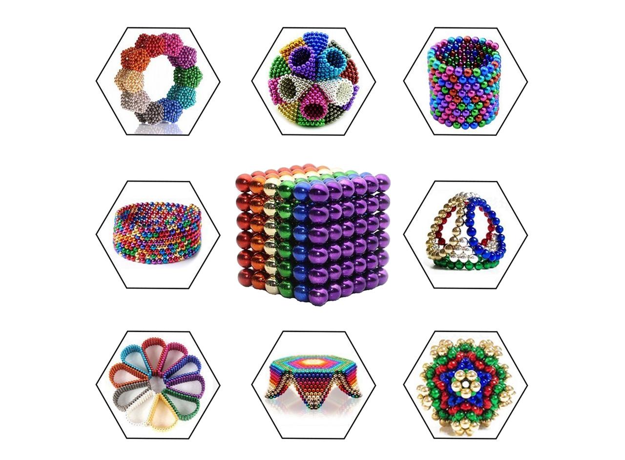 Магнитная головоломка конструктор Неокуб разноцветный 216 шар.