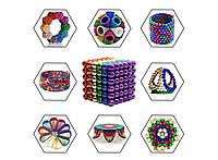 Магнитная головоломка конструктор Неокуб разноцветный 216 шар., фото 1