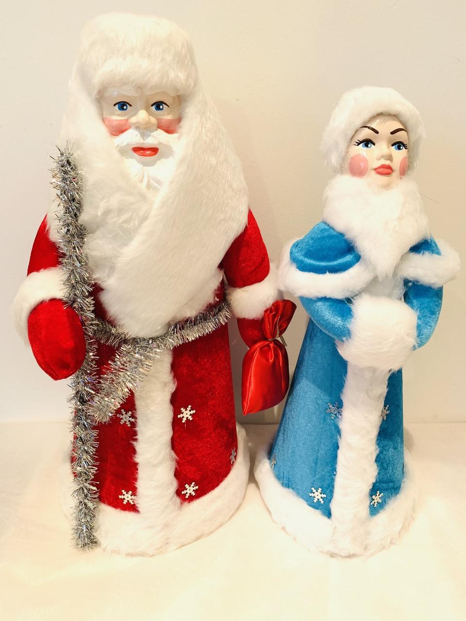 Дед Мороз и Снегурочка в коробке 50 см+45 см