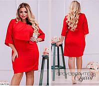 Женское платье с украшением батал р-ры 50-60 арт 0106