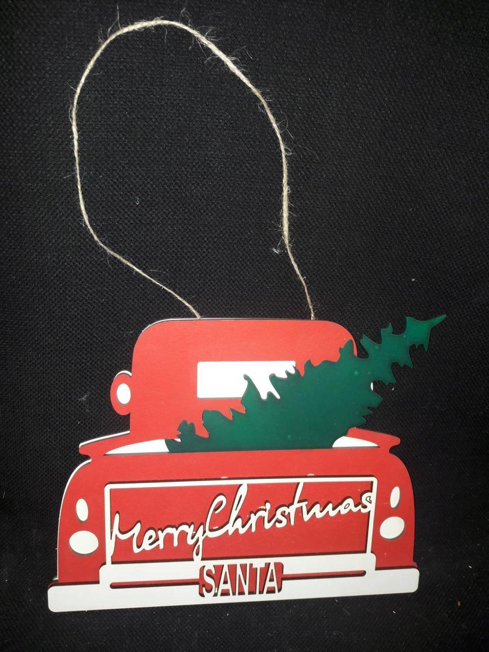 Подвеска новогодняя из дерева, выс. 20 см., 120 гр.