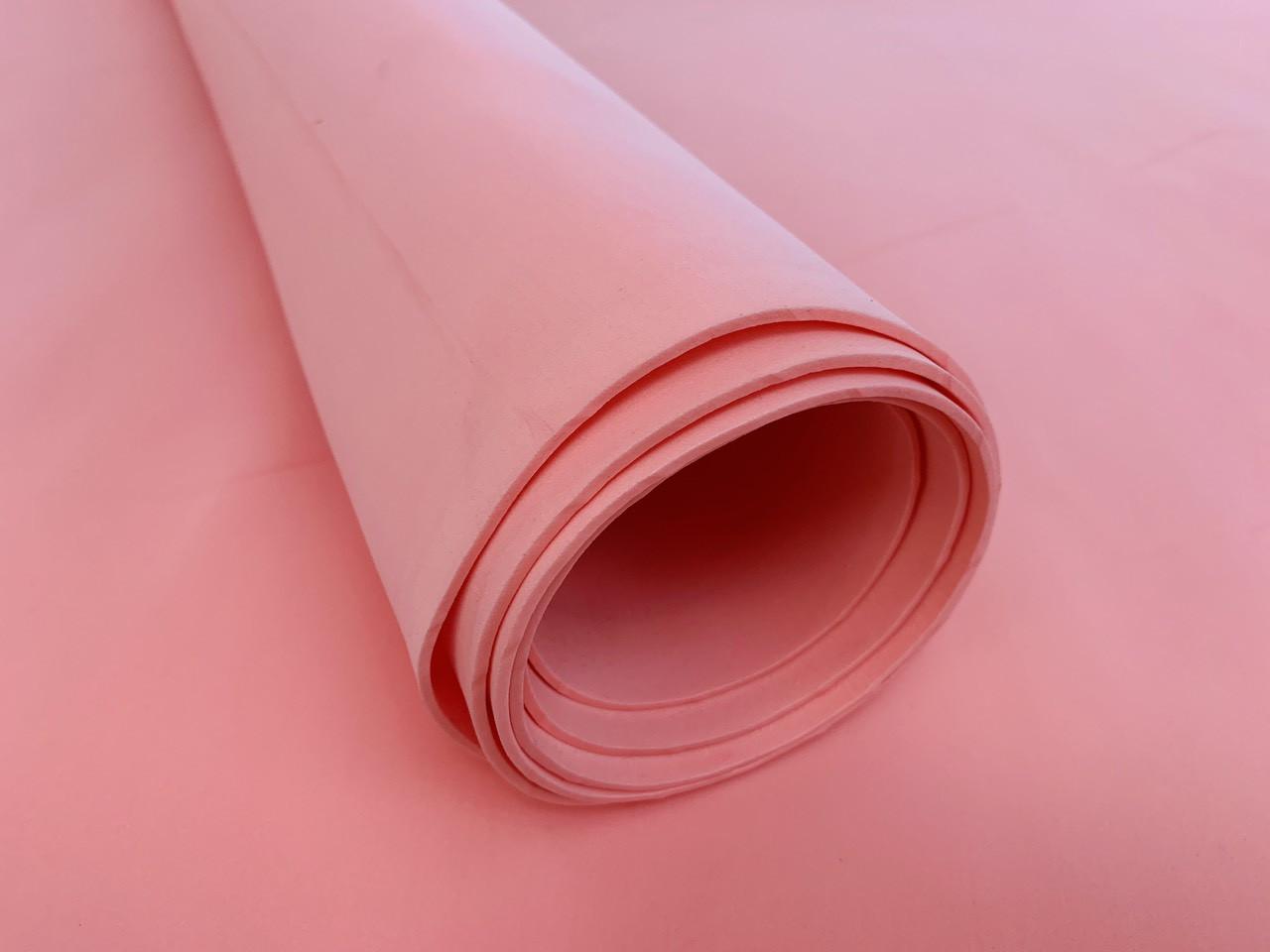 Эва, фоамиран 2 мм 100х150 см розовая зефирная