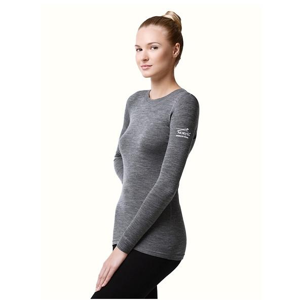 Термофутболка женская с длинным рукавом Norveg Soft Серый меланж XXL