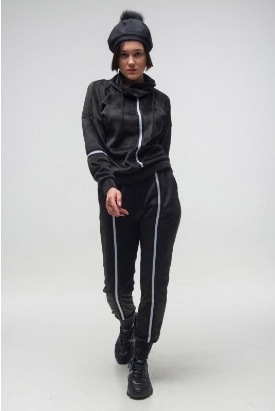 Спортивный женский костюм Paradise черный (42-52)