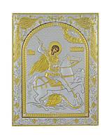 Икона серебряная Георгий Победоносец 120 мм х 160 мм, фото 1