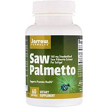 """Экстракт ягод пальмы Сереноа Jarrow Formulas """"Saw Palmetto"""" 160 мг (60 гелевых капсул)"""