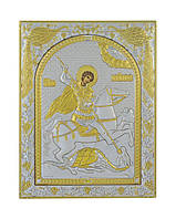 Икона серебряная Георгий Победоносец 175 мм х 225 мм, фото 1
