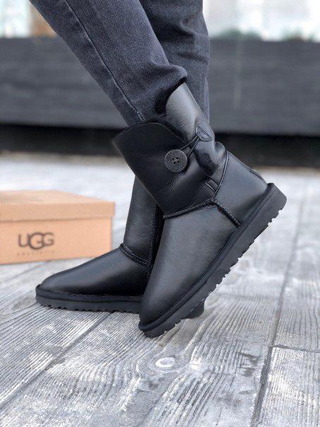 Высокие кожаные угги UGG Качество люкс!