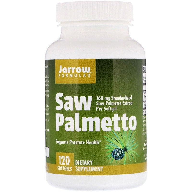 "Экстракт ягод пальмы Сереноа Jarrow Formulas ""Saw Palmetto"" 160 мг (120 гелевых капсул)"