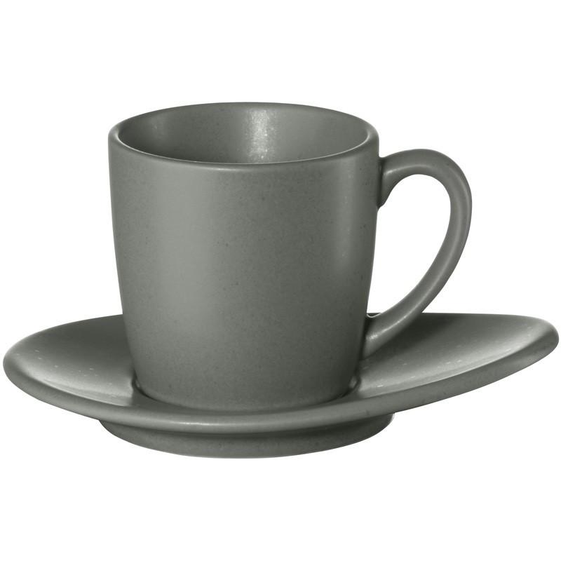 Чашка с блюдцем для эспрессо Asa Cuba Grigo 60 мл 1231400