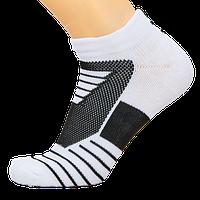 Носки баскетбольные спортивные р-р 40-45 нейлон-хлопок черно-белые (DML7001)