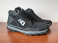 Чоловічі зимові кросівки чорні зручні на хутрі (код 8355), фото 1