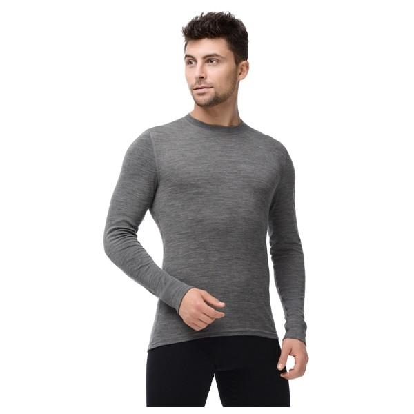 Термофутболка мужская с длинным рукавом Norveg Soft Серый меланж XL