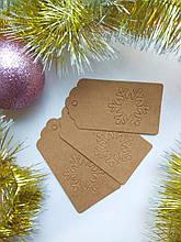 Бирка для подарков Снежинка