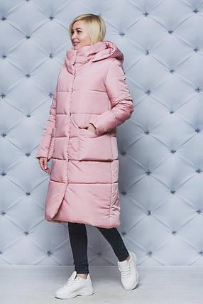 Пальто зимнее  женское удлиненое, фото 2