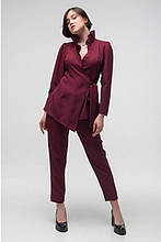 Стильный женский костюм Этюд марсала (44-50)