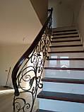 Кованые перила в стиле модерн. Ограждение лестницы Л-5001, фото 6