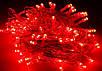 Гирлянда нить светодиодная 400 led, Красная, прозрачный провод, 28 м., фото 4