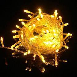 Гирлянда нить светодиодная 700 led, Желтая, прозрачный провод