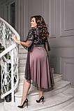 Шикарное асимметричное женское вечернее платье 50-60р., фото 2