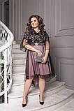 Шикарное асимметричное женское вечернее платье 50-60р., фото 3