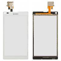 Touchscreen (сенсорный экран) для Sony Xperia L C2105/C2104 S36/S36h, оригинал (белый)