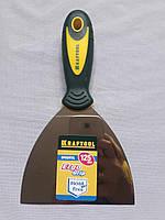 Шпательная лопатка 125 мм KRAFTOOL с 2-компонент ручк, профилиров нержав полотно 10035-120