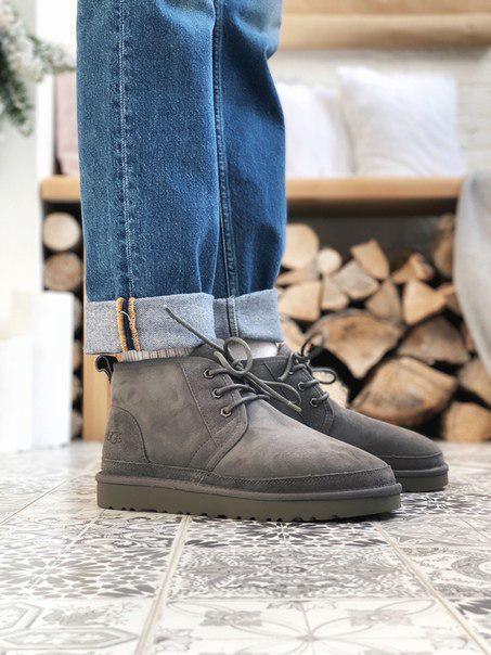 Мужские серые ботинки-угги UGG Neumel Gray до -30°C