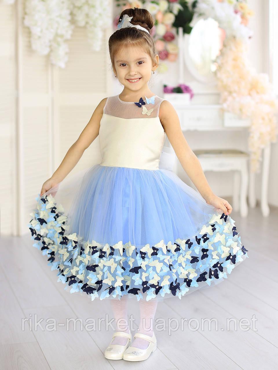 Нарядное платье девочка, 190207,  от 5 до 8 лет