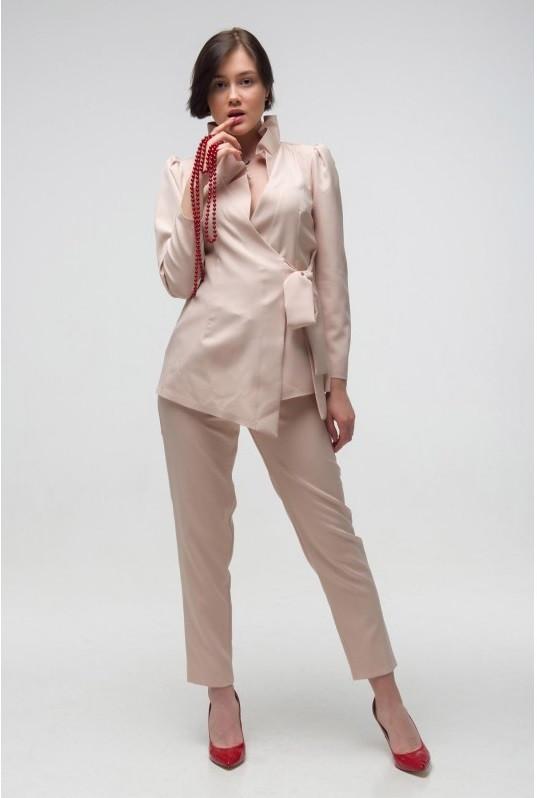 Модный женский костюм Этюд бежевый (44-50)