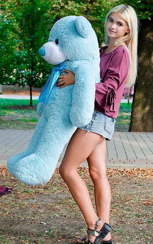 Плюшевый Мишка 120см. Большая Игрушка Мишка игрушка Плюшевый медведь Мягкие мишки игрушки Ведмедик (Голубой)