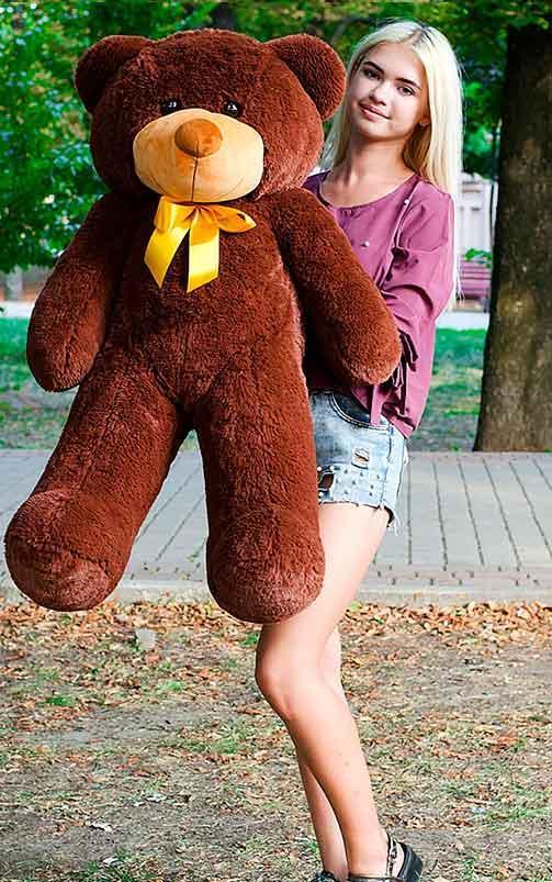 Плюшевый Мишка 120см. Большая Игрушка Мишка игрушка Плюшевый медведь Мягкие мишки игрушки Ведмедик (Шоколад)