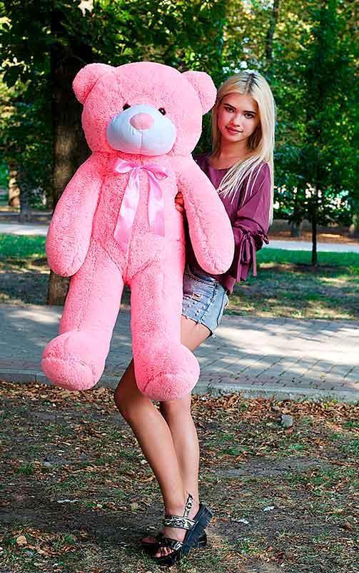 Плюшевый Мишка 120см. Большая Игрушка Мишка игрушка Плюшевый медведь Мягкие мишки игрушки Ведмедик (Розовый)