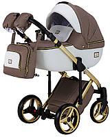 Универсальная детская коляска 2 в 1 Adamex Luciano Polar Gold (Адамекс Лучиано)