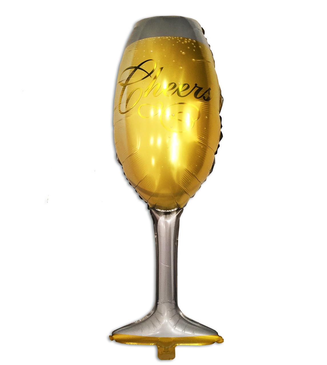 Фольгированный шар Бокал шампанского 100 х 40 см. 1453