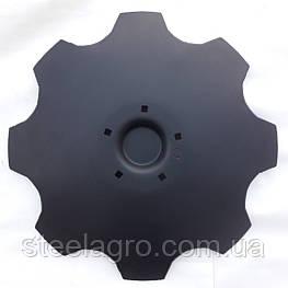 Диск борони Lemken Rubin 9 ф625 s-6мм, 5 отв, кв13мм ст30Mnb5 Лемкен рубін (3490466, 3490467)