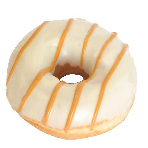 """Пончик WHITE """"DONUT"""" с карамельной начинкой"""