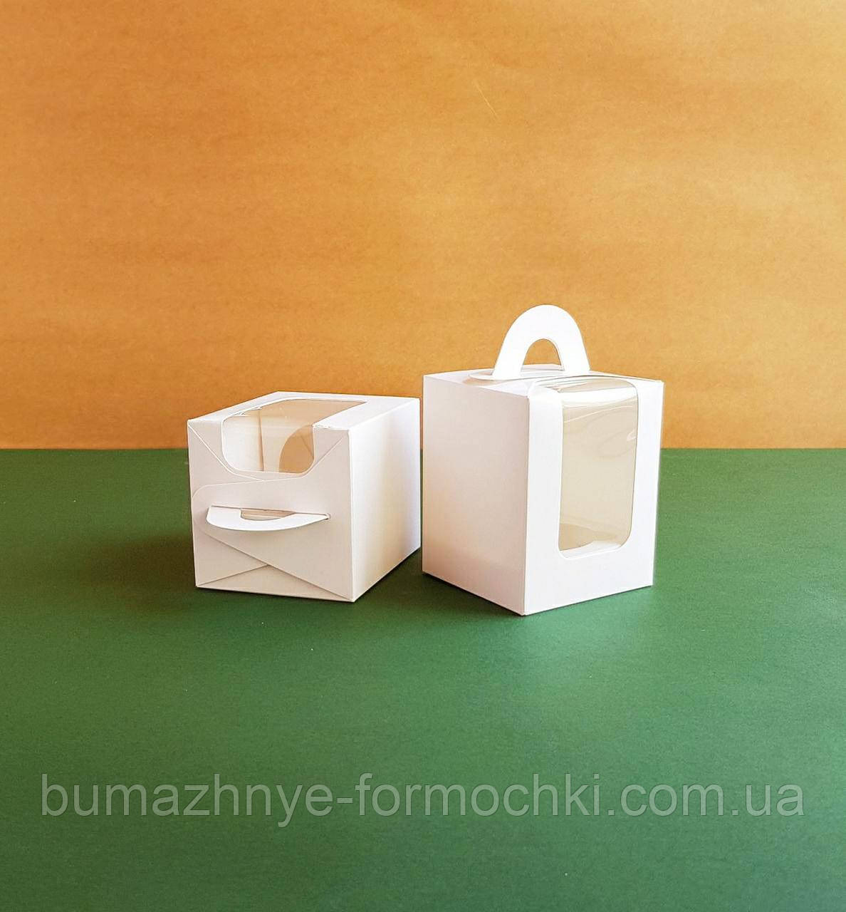 Коробка для 1 капкейка, белая