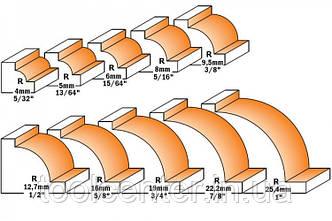 Фреза СМТ R9,5х31,7x14х45,8x8 радиусная, фото 2