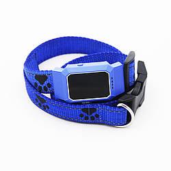 Водонепроникний GPS трекер для домашньої тварини (коти, собаки) D35 Синій