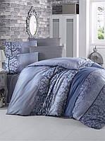 Комплект постельного белья Victoria «OYKU blue» (поликоттон)