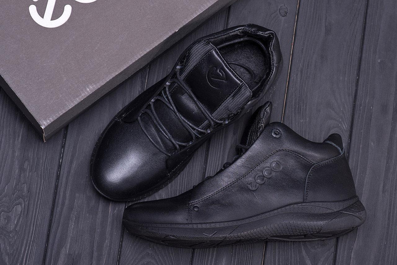 Мужские зимние кожаные ботинки в стиле Е-series New Kinhin