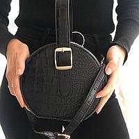 Женская сумка-клатч из эко-кожи черная