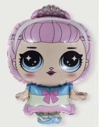 Шар фигура пленка Кукла Лол / LOL  (хрустальная королева) (74см)