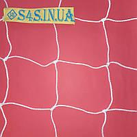 Сетка для футбола повышенной прочности «СТАНДАРТ-ДИАГОНАЛЬ» белая (комплект из 2 шт.), фото 1