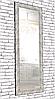 Зеркало настенное в раме Factura Steel texture 60х174 см стальное