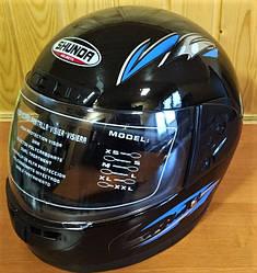 Мотошлем Helmets Shunda черный